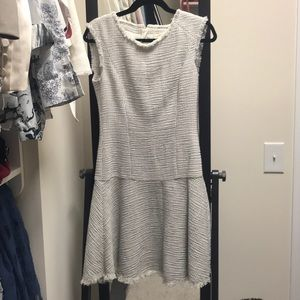 Rebecca Taylor metallic weave tweed dress